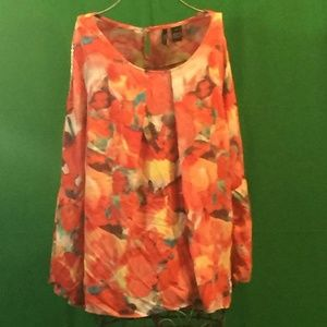 Plus size water color inspired shirt